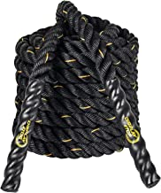 Display4top Battle Rope, zwart fitnesstouw voor krachttraining, spring- en klimoefeningen, touwtrekken, dikte 38 mm, lengt...