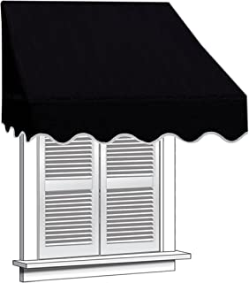 ALEKO WAW4X2BLACK81 Window Canopy Awning 4 x 2 Feet Black