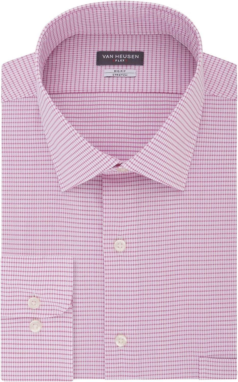 Van Heusen New popularity Men's Tall Dress Shirts Check Flex Big favorite Fit