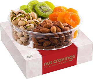 Dried Fruit & Nut Gift Basket Assortment, Red Box Meduim (4 Mix) - Variety Care Package, Birthday Party Food, Holiday Arra...