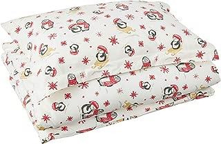 Pointehaven Flannel Oversized Duvet Set, Twin, Penguin
