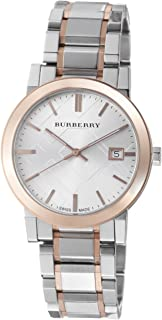 Burberry Men`s BU9006 Large Check Two Tone Stainless Steel Bracelet Watch