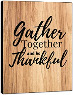 """LACOFFIO Gather Together and Be Thankful Wall Decor House Warming Gifts – 9""""x.."""