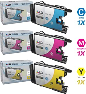 LD © Compatible with Brother LC75 Set of 3 High Yield Ink Cartridges: 1 each of LC75C Cyan / LC75M Magenta / LC75Y Yellow for use in the Brother MFC-J280W, MFC-J425W, MFC-J430W, MFC-J435W, MFC-J5910DW, MFC-J625DW, MFC-J6510DW, MFC-J6710DW, MFC-J6910DW, MFC-J825DW and MFC-J835DW Printers