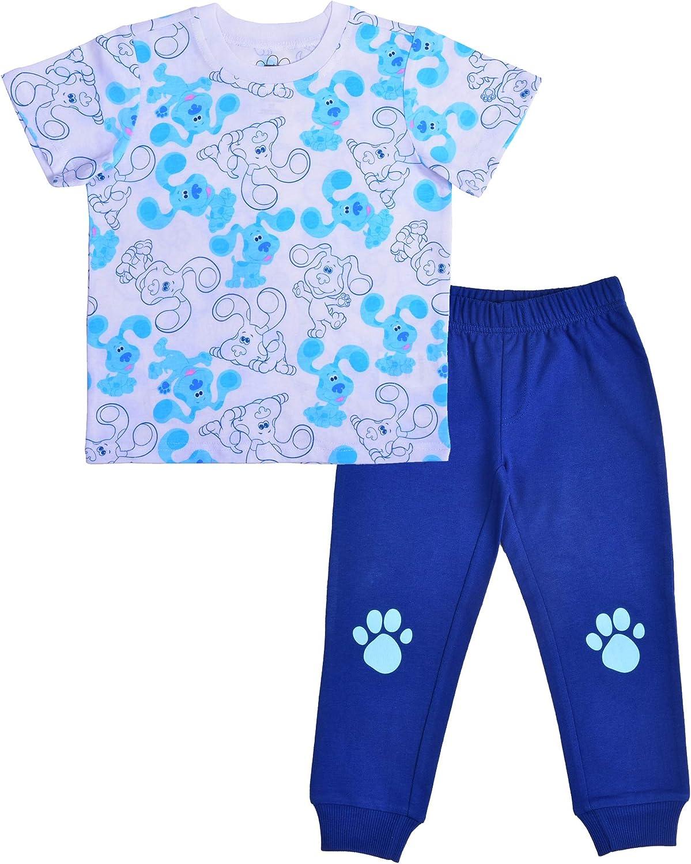 Nickelodeon Boy's 2-Piece Blue's Clues Paw Print Raglan T-Shirt and Jogger Pant Set