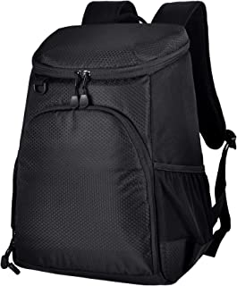 MIER Leakproof Cooler Backpack Insulated Soft Lunch Cooler for Men Women, Best for Picnic, Hiking, Travel, Beach, Sports, Work, 24Can, Large, Black