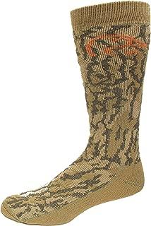 Ducks Unlimited Mossy Oak Original Bottomland Full Cushion Merino Wool Blend Camo Socks, Camo, (L) W 9-12 / M 9-13, 1 Pair