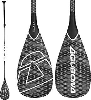 AQUBONA SUP Paddle- 3 Pieces 100% Carbon Fiber Adjustable Stand Up Paddle Board Paddle, Portable Durable Floating Paddle B...