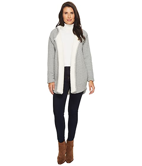 Mod-o-doc Signature Waffle Faux-Sherpa Lined Hooded Cardigan at ...