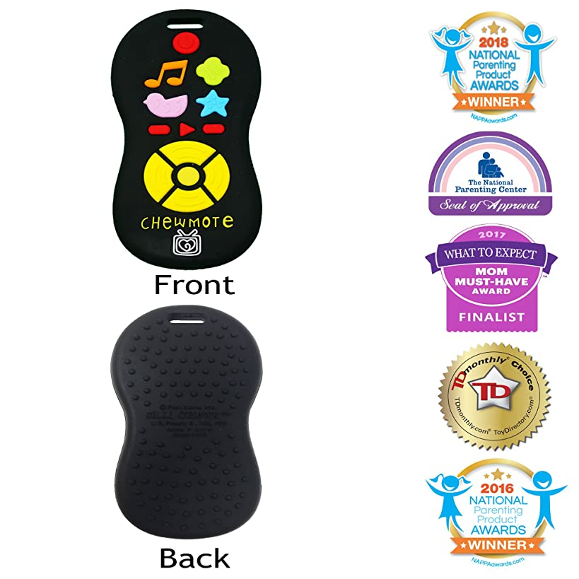 Silli Chews Unisex TV Remote Control Toy Chewmote Favorite Baby Teether Infant Silicone Teething Toy Black Chew Toys for Kids