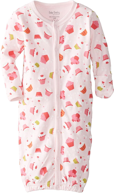 Kushies Baby-Girls Newborn Cupcakes Convertible Gown