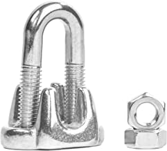 """Premier Stainless Solutions Heavy Duty Stainless Steel Wire Rope Clips for 1/4"""" Cables, T316 Marine Grade – Lot of 3 (All Sizes Available)"""