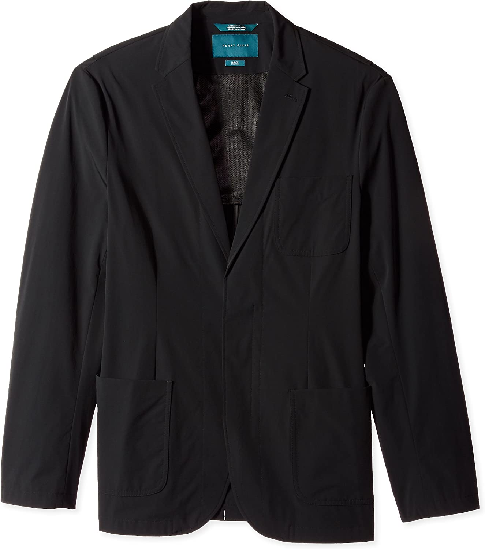 Perry Ellis Men's Big & Tall Tall Fit Solid Tech Stretch Jacket