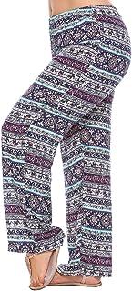 Women Plus Size Floral Print Stretchy Yoga Wide Leg