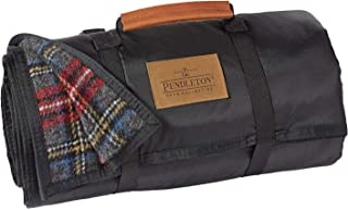 Pendleton Roll-Up Wool Blanket, Charcoal Stewart