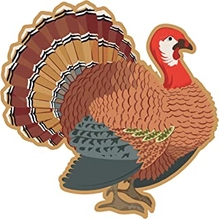 25 Thanksgiving Turkey Placemats Large 17 X 17 for Dinner & Dining Table Décor – Turkey Shaped Paper Place mats for Fall, Autumn Harvest Tablecloth Crafts Home Decorations