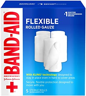 Band Aid Brand of First Aid Products Flexible Rolled Gauze Dressing for Minor Wound Care, Soft Padding and Instant Absorpt...