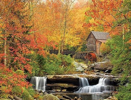 compras en linea blanco Mountain Puzzles Jigsaw Jigsaw Jigsaw Puzzle 1000 Pieces 24 X30 -Old grist Mill  tienda de venta