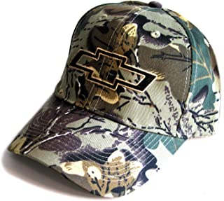 Chevrolet Chevy Camo Camouflage Bowtie Hat Cap - Bundle with Driving Style Decal