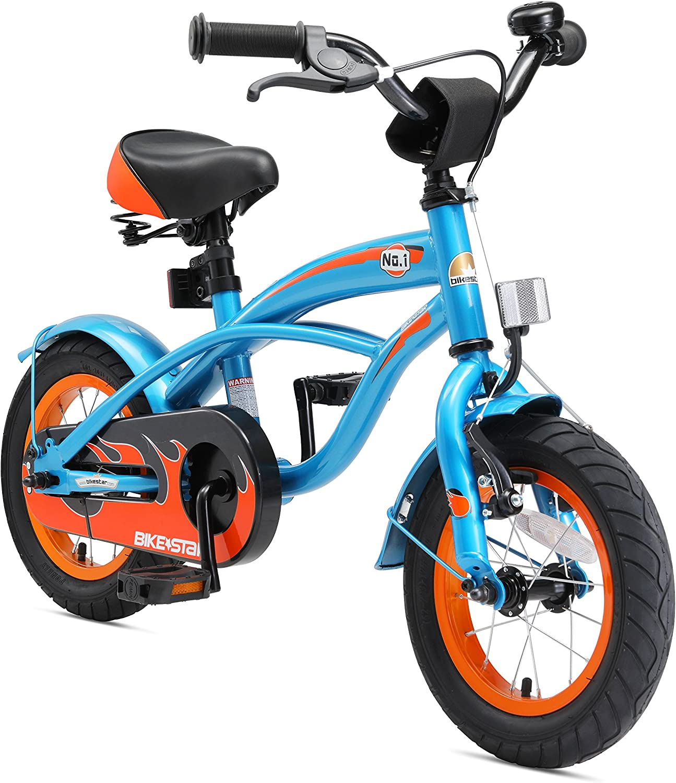 colores increíbles BIKEEstrella Bicicleta Infantil para Niños y niñas niñas niñas a Partir de 3 años   Bici 12 Pulgadas con Frenos   12  Edición Cruiser  nuevo estilo