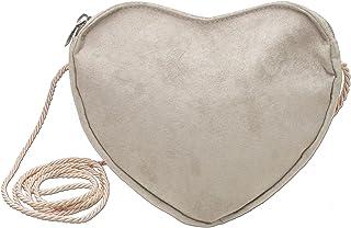 Alpenflüstern Herz-Trachtentasche DTA03700035 Damen Umhängetaschen 19x17x3 cm, Taupe-Braun