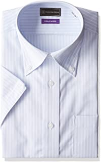 (ピーエスエフエー)P.S.FA アーバンモデル 半袖ボタンダウンワイシャツ 形態安定 P162160050 81 81_サックス LL(首回り43cm)