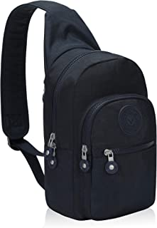 Hynes Eagle Water Resistant Sling Bag Crossbody Chest Shoulder Pack for Outdoor Traveling Commuting Navy Blue