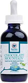 Best Nest Liquid Iron Supplement Drops, Natural Chocolate Flavor, for Adults and Children, 15 mg per Serving, 4 Oz, 4 Month Supply, Best Nest Wellness