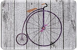 Meet 1998 Outdoor Durable Doormat Bicycle Wooden Board Non-Slip Rubber Backing Mats Heavy Duty Carpet Shoes Scraper Rugs M...