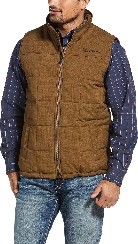 ARIAT Men's Crius Insulated Vest, Field Khaki Heather