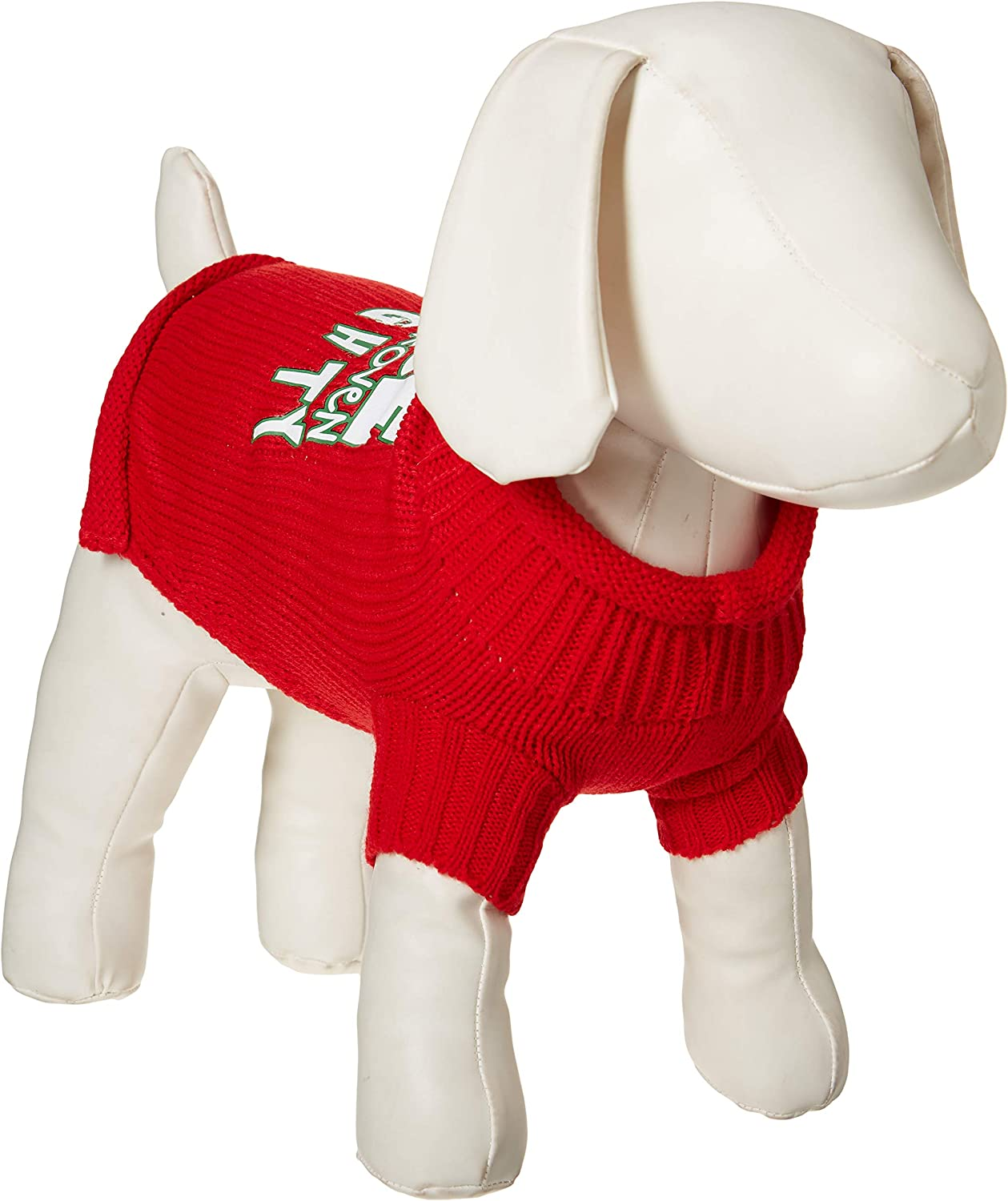 Nice Until Proven Naughty Cotton Knit Festive Holiday Pet Sweater