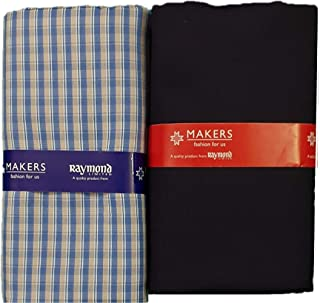2e1167ce Raymond Makers Men's Cotton Unstitched 2.4 m Shirt and Trouser Fabric Combo  (Multicolour, Free