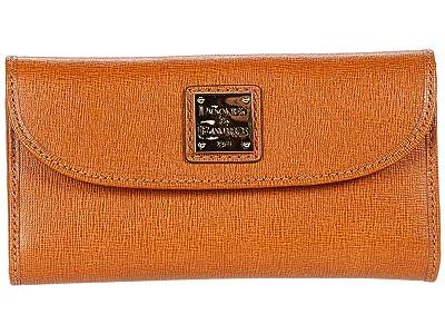 Dooney & Bourke Saffiano Continental Clutch (Natural) Handbags