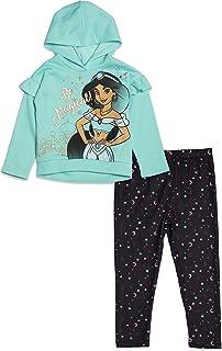 Disney Princess Girls Fleece Pullover Hoodie and Leggings Set