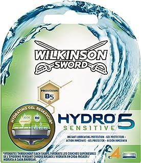 comprar comparacion Wilkinson Sword Hydro 5 Sensitive - Recambio de Cuchillas de Afeitar de 5 Hojas para Hombres con Piel Sensible, Banda Lubr...