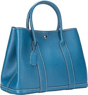 Women's Tote Bag Genuine Leather Top Handle Handbags 36cm