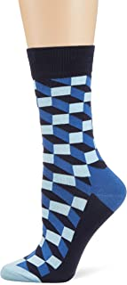 Happy Socks Men's Filled Optic Sock, Multicoloured, 41-46