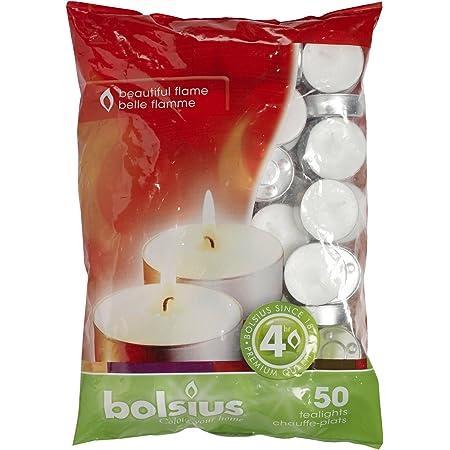 Bolsius 50 Tealights 4Hour Burn Time Tea Lights Fast Postage