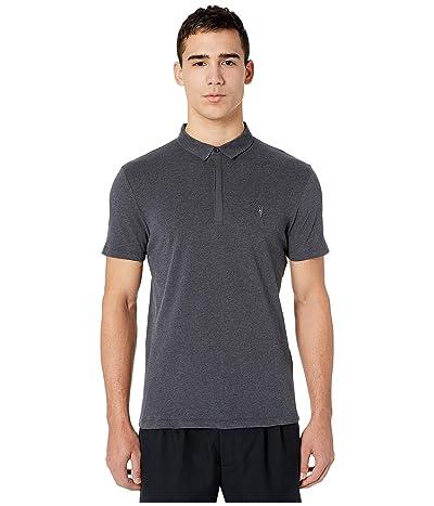 AllSaints Brace Short Sleeve Polo (Charcoal Marl) Men