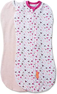 SwaddleMe Pod - Small/Medium, 2 Pack, I Heart You, 0-3 Months