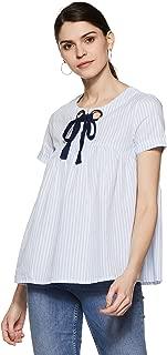 VERO MODA Women's Plain Regular Fit Shirt