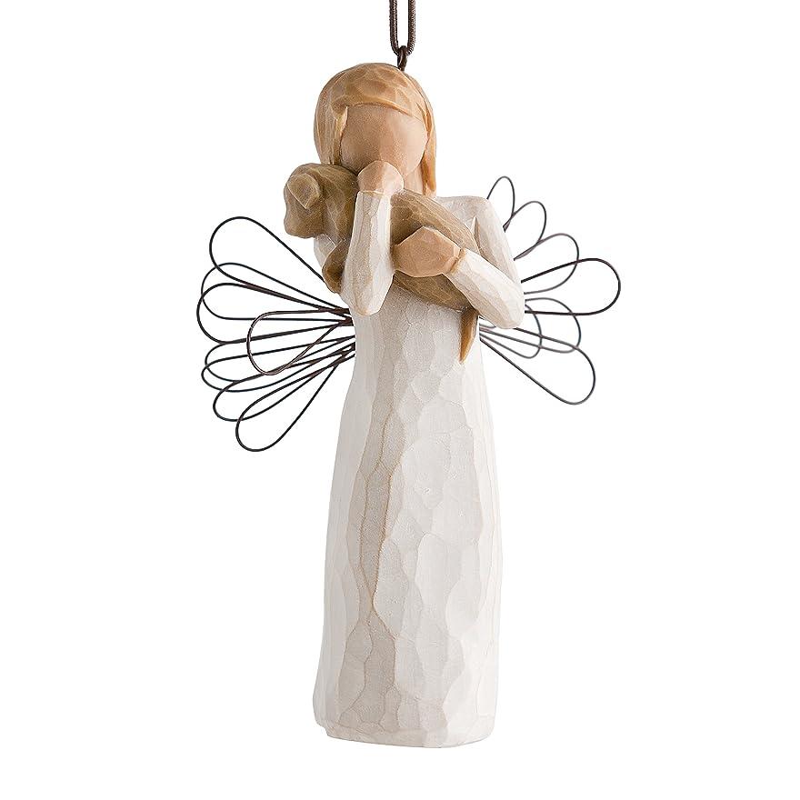 土器滑りやすい敬ウィローツリー オーナメント 【Angel of Friendship】 - 友情 アンティーク ツリー飾り
