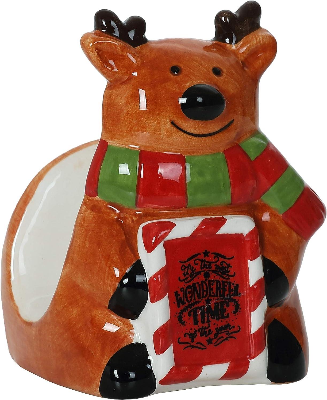 Christmas Themed Bus Ceramic Napkin Holder