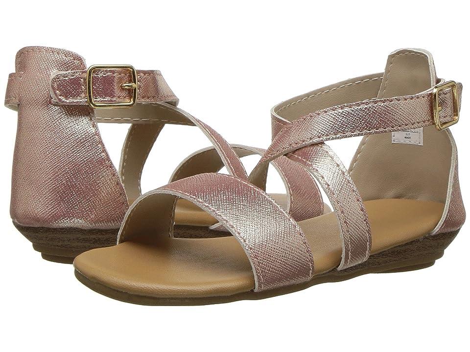 Baby Deer First Steps Crisscross Sandal (Infant/Toddler) (Rose Gold) Girls Shoes