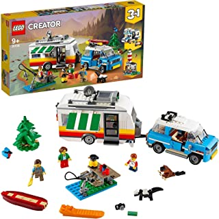 LEGO Creator Caravan Family Holiday 31108 Toy for Boys and Girls 9+ years old, 3in1 building set with 3 minifigures (766 p...