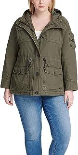 Women's Cotton Four Pocket Hooded Field Jacket (Standard...