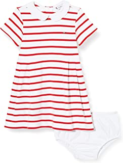 Baby Girl Rugby Stripe Dress S/S Blusa para Bebés