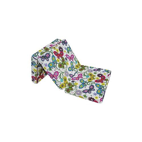 Natalia Spzoo® Matelas lit futon Pliable Pliant 195 x 65 x 10 cm Choix de Designs Multicolore (Garden)