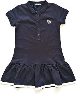 Moncler Junior - Vestido de piqué para niña E1 954 8568105 8496F azul