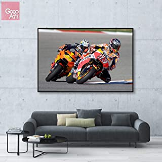 GoGoArt ROLL Canvas Print Wall Art Panorama Big Picture Poster Modern (no Framed no Stretched not Oil Painting) MotoGP Superbike Marc Marquez Racing Motorcycle Repsol Honda A-0204-1.5 (24 x 36 inch)